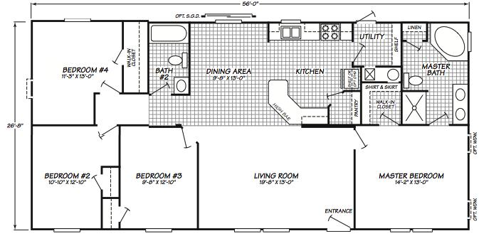 1995 Fleetwood Manufactured Home Floor Plans House