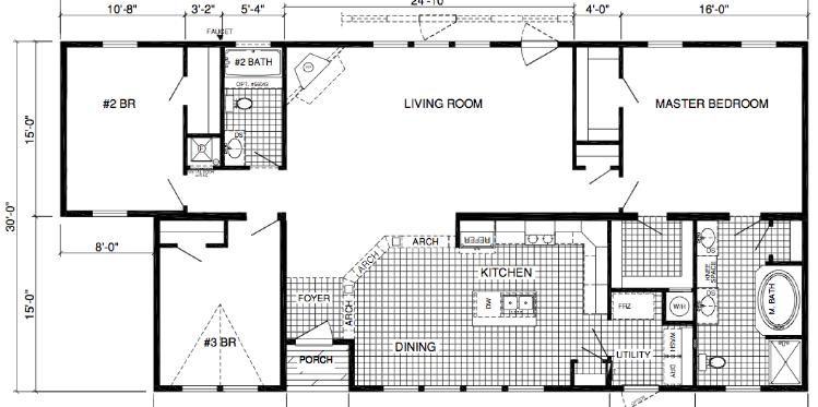 Double wide home plans x homes floor plans google search for Small double wide floor plans